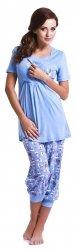 """Wyjątkowa piżama 2 w 1 ciążowa i do karmienia """"Baby"""" 5058 niebieski 1"""