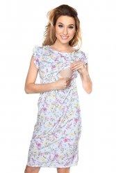 MijaCulture - zjawiskowa sukienka 2 w 1 ciążowa i do karmienia Lia kwiaty