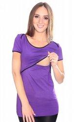 MijaCulture - bluzka 2 w 1 ciążowa i do karmienia 1111 fiolet