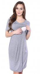 MijaCulture - sukienka 2 w 1 ciążowa i do karmienia Lora szara