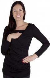MijaCulture - bluzka z paskiem 2 w 1 ciążowa i do karmienia 4004/M23 czarny