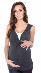 MijaCulture - bluzka 2 w 1 ciążowa i do karmienia M14/3092 grafit