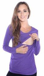 MijaCulture - bluzka 2 w 1 ciążowa i do karmienia długi rękaw 1103 lila
