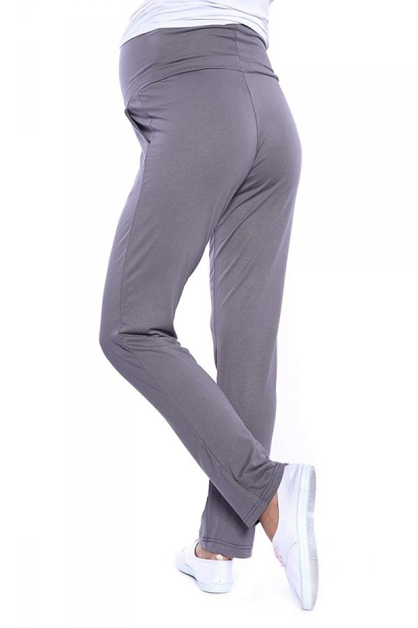 MijaCulture - spodnie viskozowe 4092/ M53 grafit 3