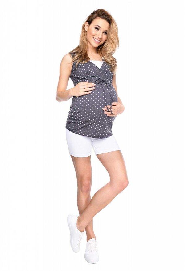 Wygodne krótkie legginsy ciążowe Mama Mia biały 4