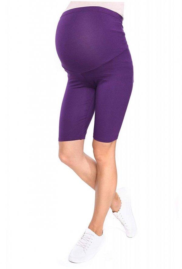 Wygodne legginsy ciążowe Mama fioletowy 1