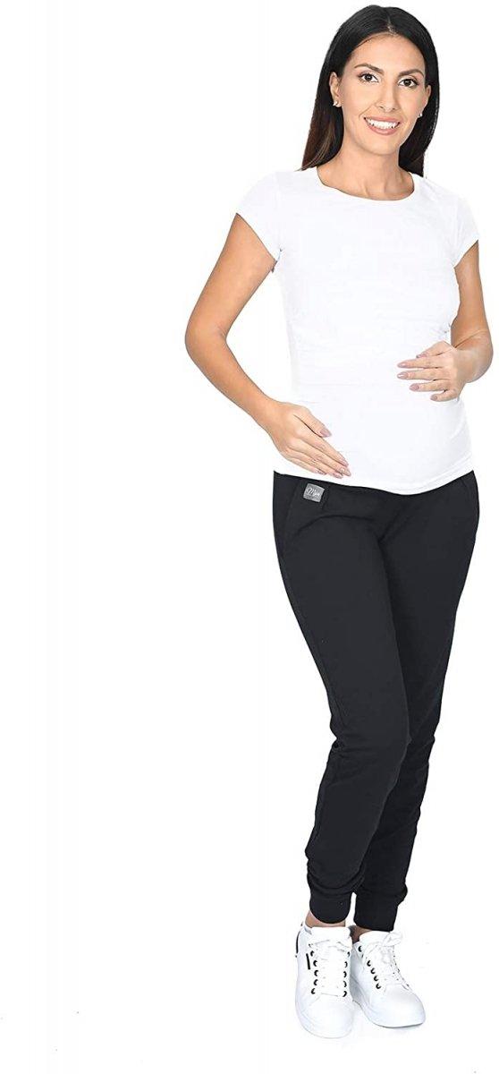MijaCulture Wygodne spodnie dresowe ciążowe Coco M003 czarny4