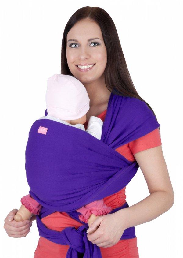 MijaCulture - chusta do noszenia dzieci 4011/M28 brzoskwiniowa 2