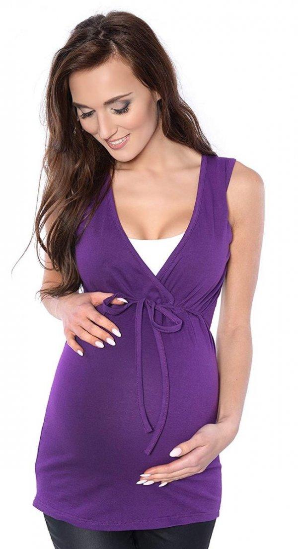 MijaCulture - bluzka 2 w 1 ciążowa i do karmienia M14/3092 fiolet 1