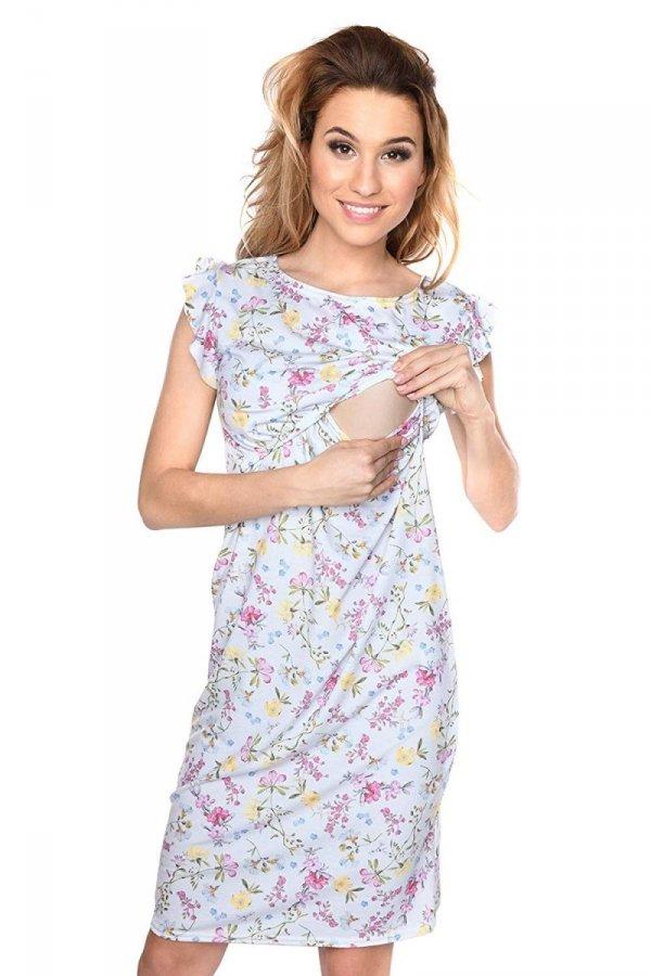 """MijaCulture - zjawiskowa sukienka 2 w 1 ciążowa i do karmienia """"Lia"""" kwiaty 1"""