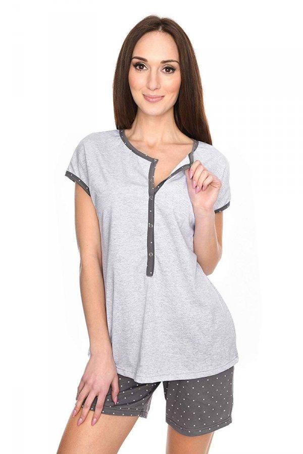 MijaCulture - 3 w 1 piżama ciążowa i do karmienia M79 melanż/szary 2