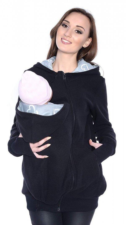 3 w1 polar ciążowy i do noszenia dziecka 4018A/M22 czarny 1