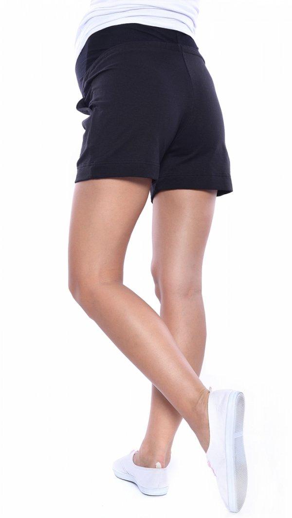 MijaCulture - spodenki ciążowe 4091/3808 czarny