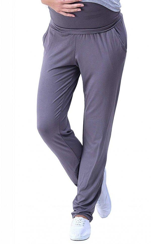 MijaCulture - spodnie viskozowe 4092/ M53 grafit 1
