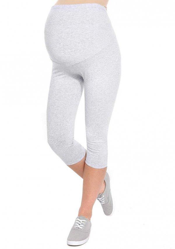 Komfortowe legginsy ciążowe 3/4 melażowe 11