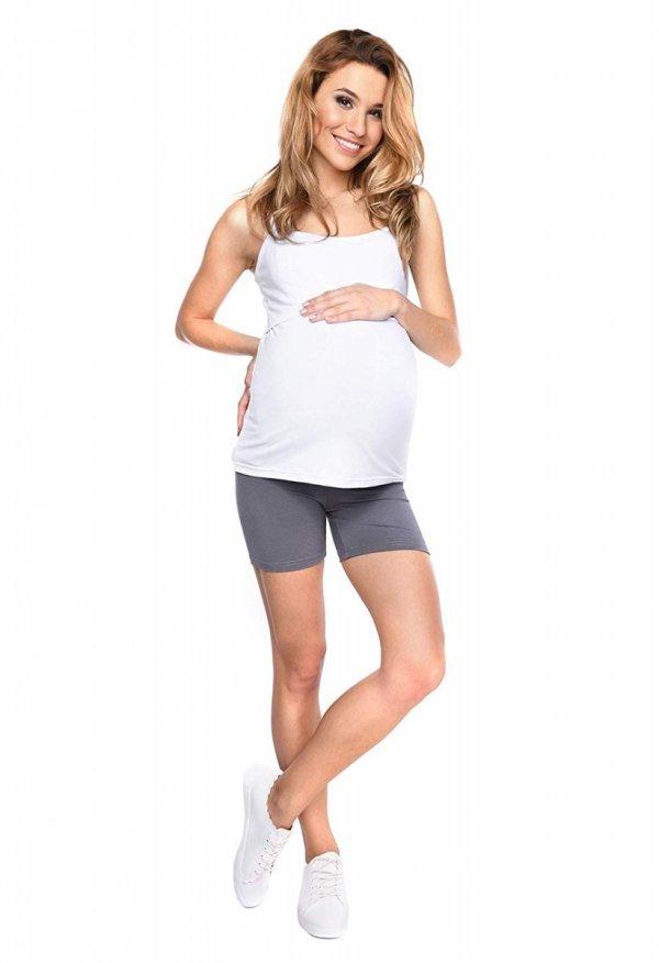 Wygodne krótkie legginsy ciążowe Mama Mia szary 4