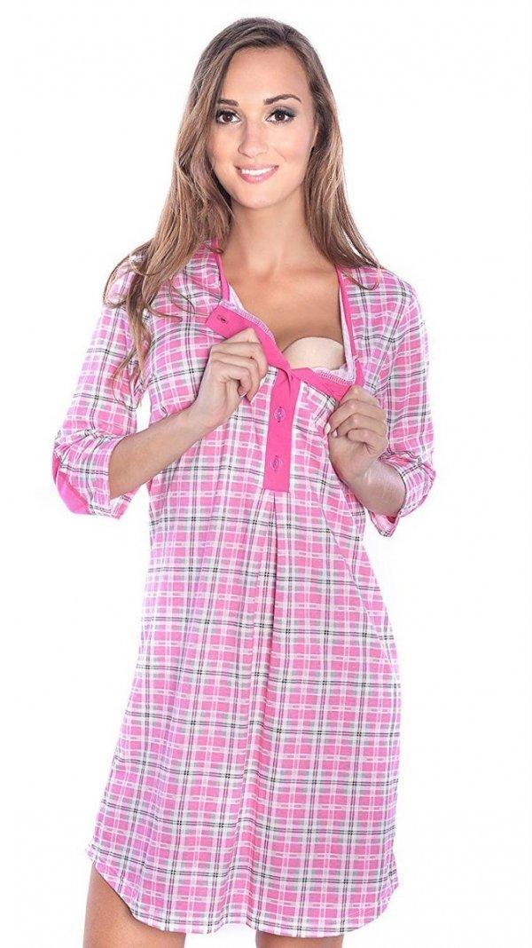 2 w 1 koszula nocna i do karmienia 4016/M31 różowy 1