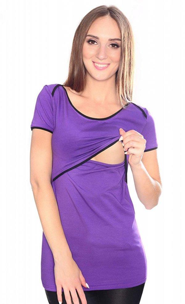 MijaCulture - bluzka 2 w1 ciążowa i do karmienia 1111 fiolet 1