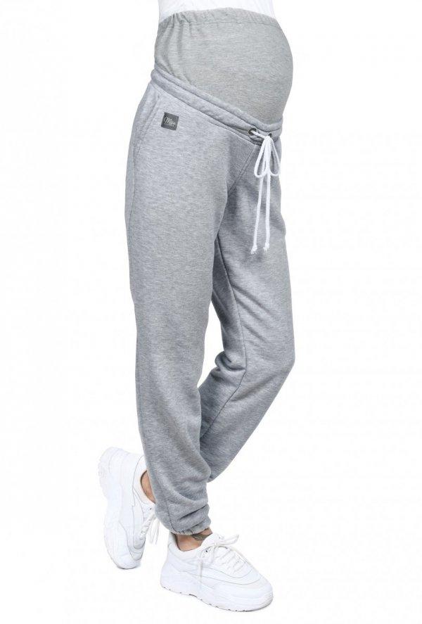 MijaCulture Wygodne spodnie dresowe ciążowe Jade M006 melanż