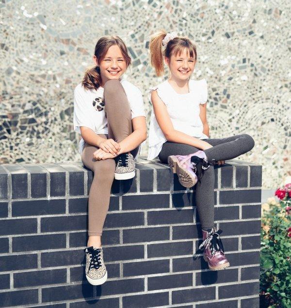 Legginsy dziewczęce getry dla dzieci ZOE ciemny fiolet