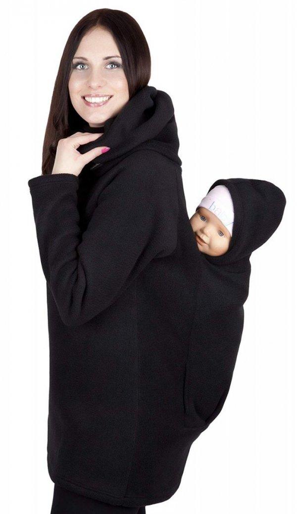 bluza polarowa do noszenia dziecka + komin 1107 czarny 3