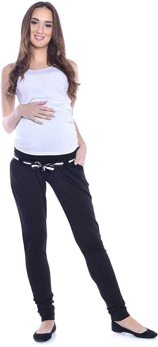 Komfortowe spodnie ciążowe Monika 9081 czarny3