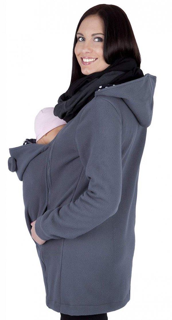 MijaCulture - polar do noszenia dziecka 3073A szary 2