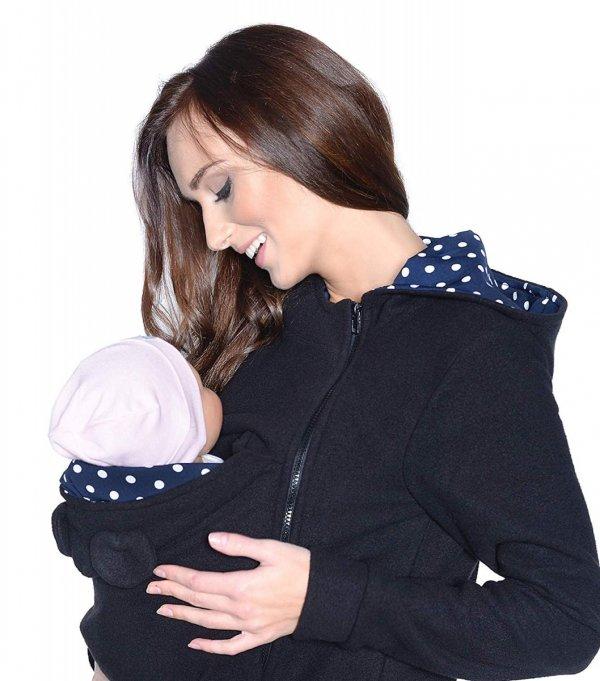 MijaCulture - polar do noszenia dziecka 3073A czarny 4