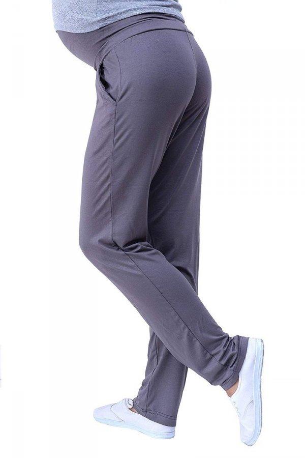 MijaCulture - spodnie viskozowe 4092/ M53 grafit 2