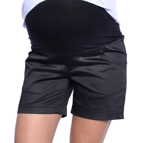 MijaCulture - szorty ciążowe 3087 czarne 1