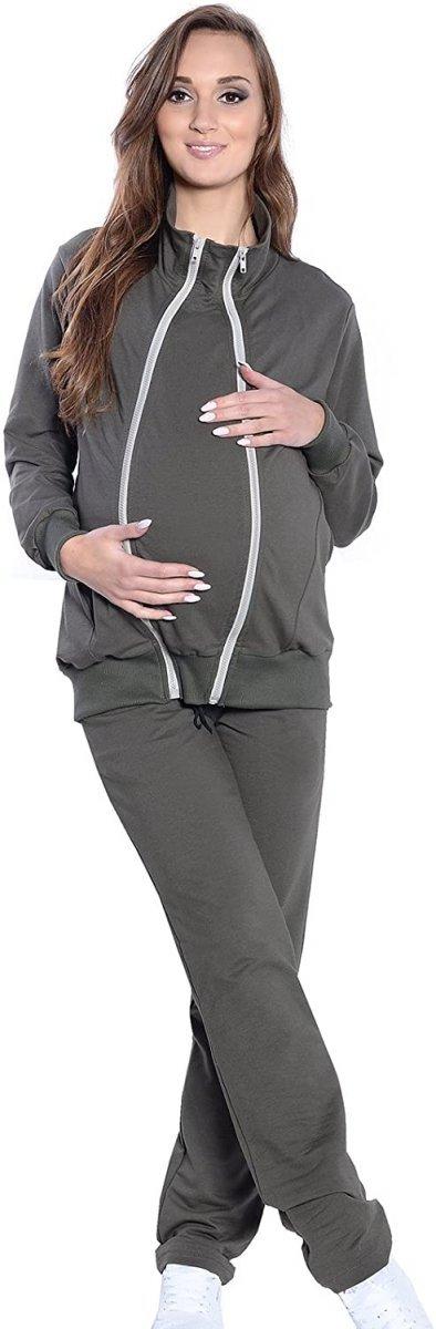 Dres Ciążowy i do karmienia komplet 3 części 4053 khaki