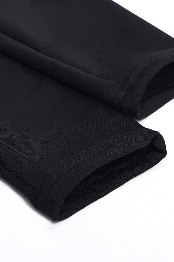 MijaCulture - Komfortowe legginsy ciążowe zimowe 1034 czarne5