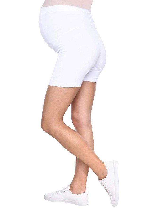 Wygodne krótkie legginsy ciążowe Mama Mia biały 5