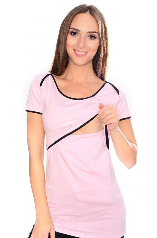 MijaCulture - bluzka 2 w1 ciążowa i do karmienia 1111 jasny róż 1
