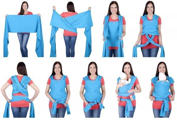 chusta do noszenia dzieci 4011/M28 melanż 3