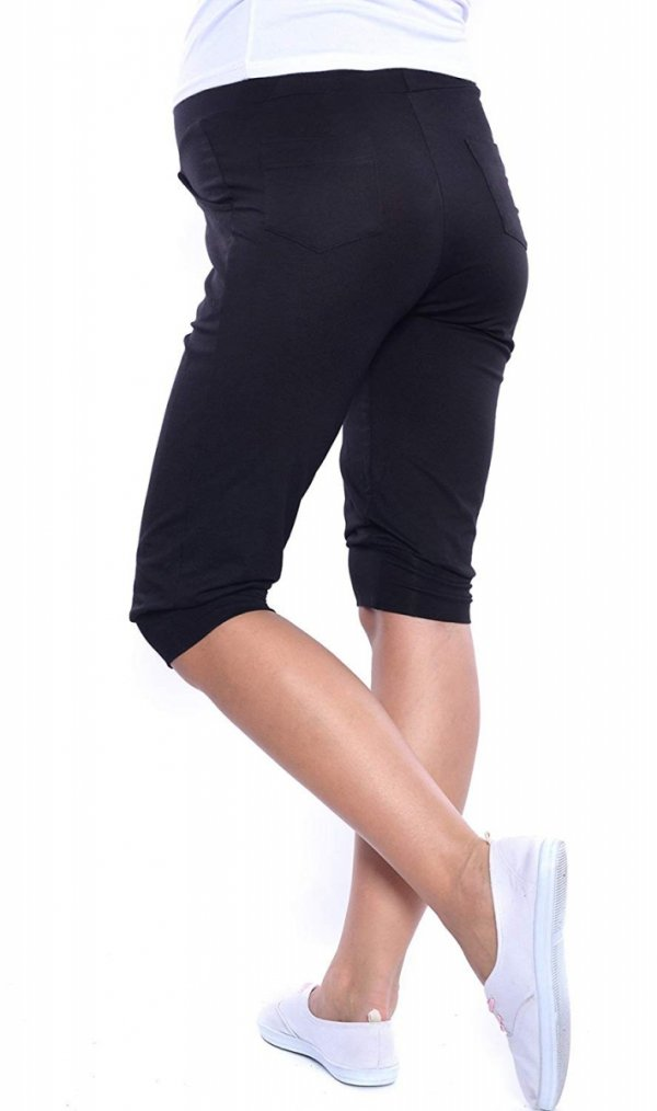 MijaCulture - spodnie rybaczki /alladynki ciążowe 4037/ M48 czarny 3