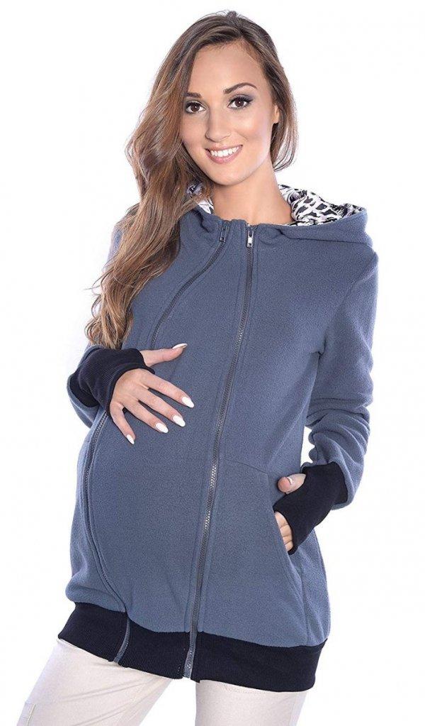 3 w1 polar ciążowy i do noszenia dziecka 4018A/M22 ciemny szary 2