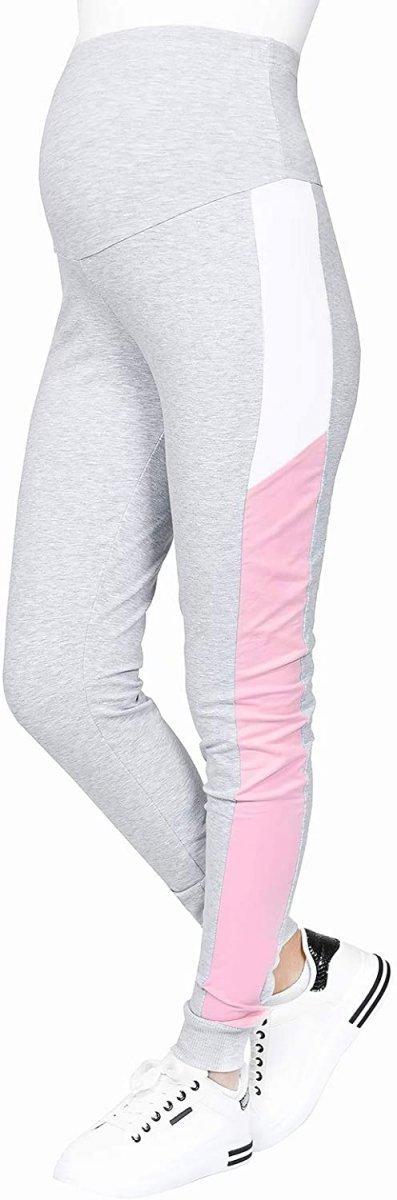 Wygodne spodnie ciązowe dresowe  Elle 9095 melanż4
