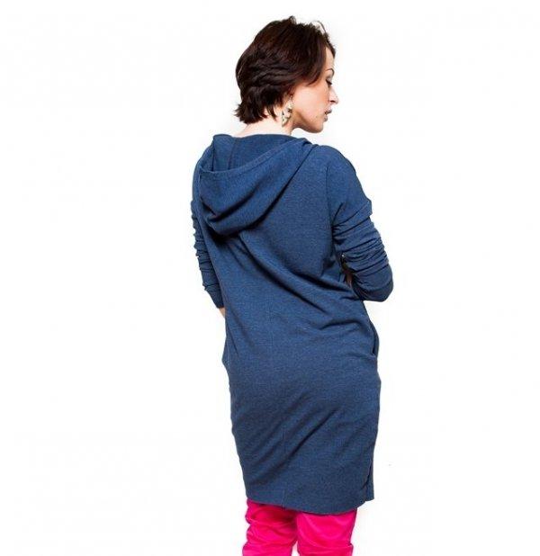 "MijaCulture - ciepła bluza ciążowa z kapturem ""Heaven"" 9000 jeans2"
