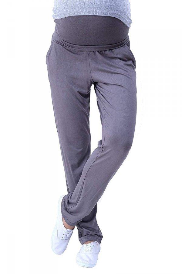 MijaCulture - spodnie viskozowe 4092/ M53 grafit 4