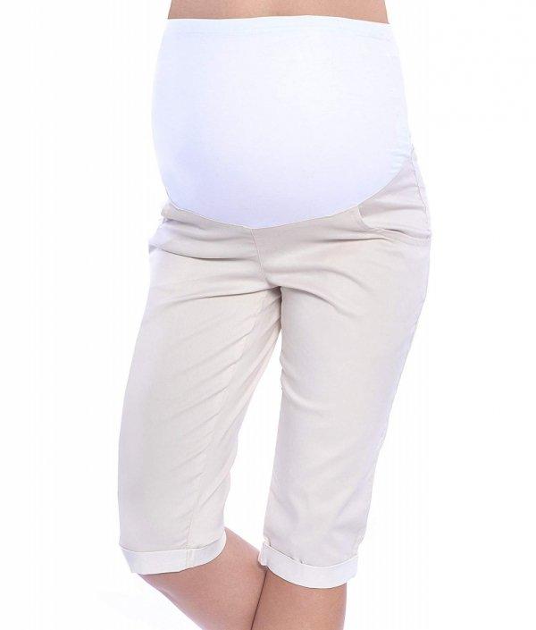 MijaCulture - spodnie rybaczki ciążowe 4015/ M35 beż 1