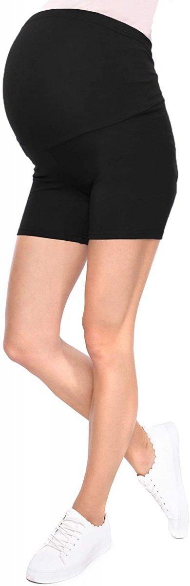 Wygodne krótkie legginsy ciążowe Mama Mia 1053/2 komplet czarny/czarny3