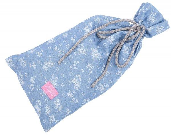 chusta, peleryna do karmienia piersią + etui 4010/M34 niebieski 1 1