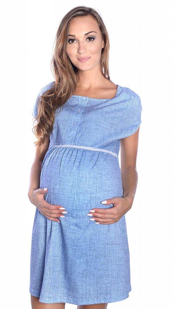 MijaCulture - 2 w 1 koszula nocna i do karmienia M 40/4025 niebieski 3