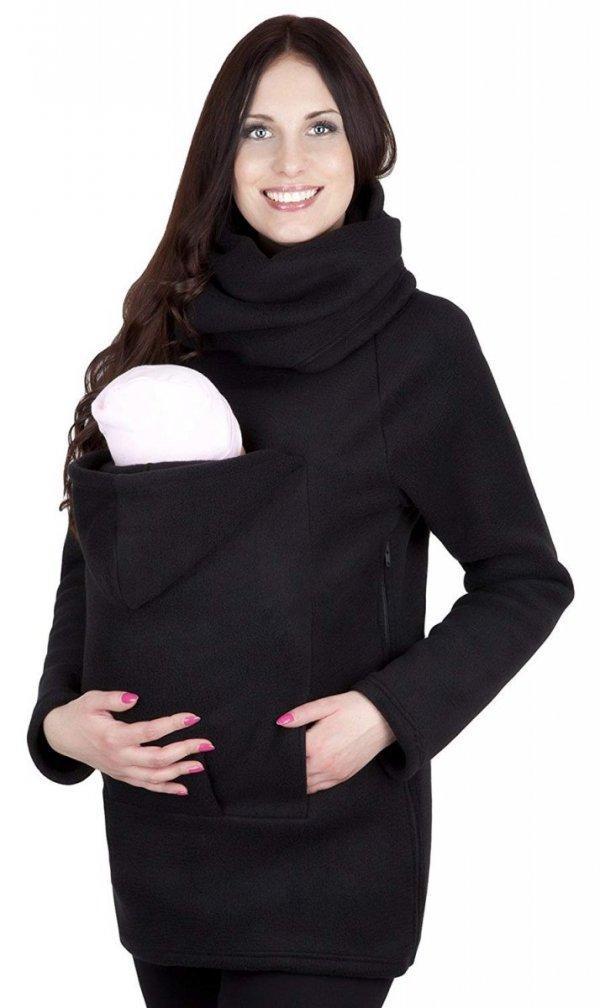 bluza polarowa do noszenia dziecka + komin 1107 czarny 1