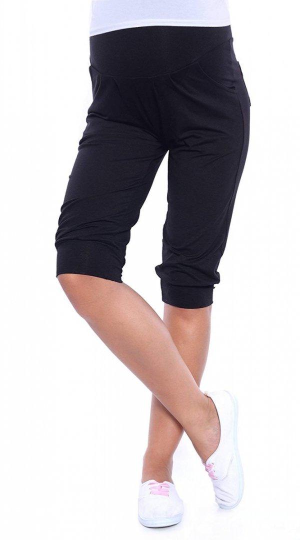 MijaCulture - spodnie rybaczki /alladynki ciążowe 4037/ M48 czarny 1