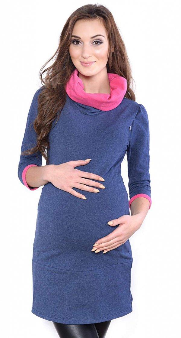 """MijaCulture - tunika 2 w 1 ciążowa i do karmienia """"Lady"""" 7130 jeans 2"""