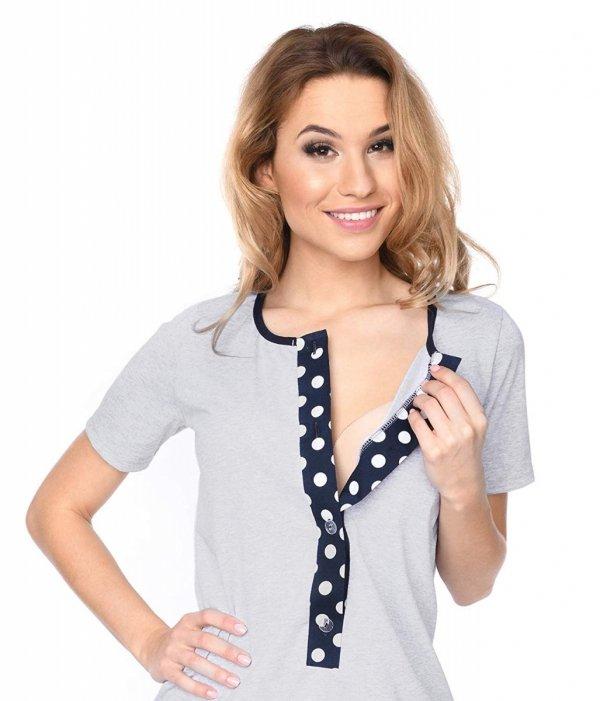 MijaCulture - 3 w 1 piżama ciążowa i do karmienia 4030/M47 melanż/kropki 4