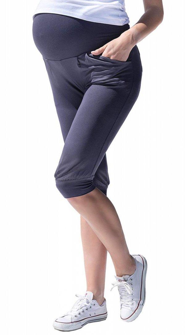 MijaCulture - spodnie rybaczki /alladynki ciążowe 4037/ M48 grafit 4