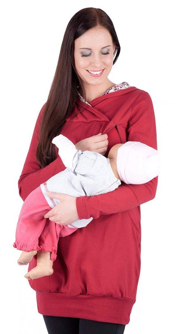 """bluza 3 w 1 ciążowa i do karmienia z kapturem """"Mimi"""" 7102A bordo 3"""